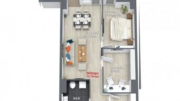 Plan apartament 3 camere premium Valcea