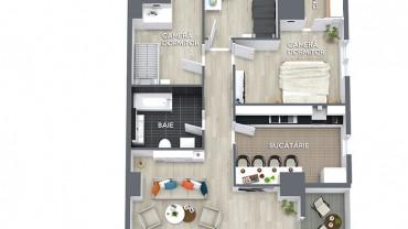 Plan apartament 4 camere model 2 ansamblul rezidential central